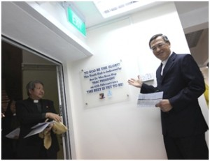 TRAC President, Rev Dr Wee Boon Hup, dedicating the Youth Hub